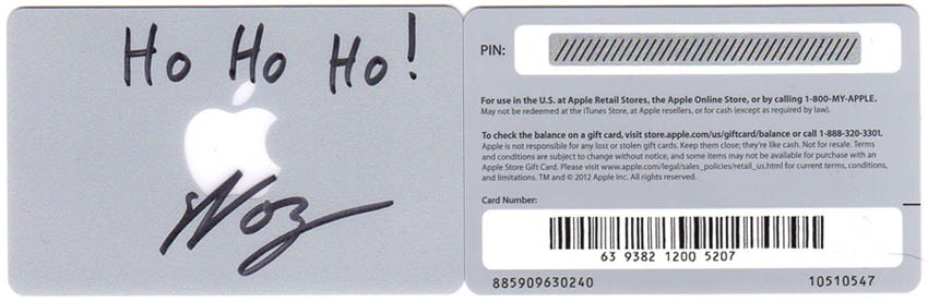 Signed Ho Ho Ho! $20 Gift Cards