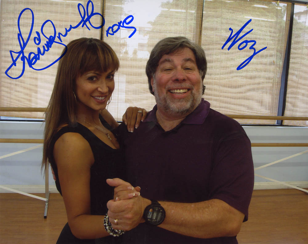10 x 8 Woz and Karina Signed Photo #1