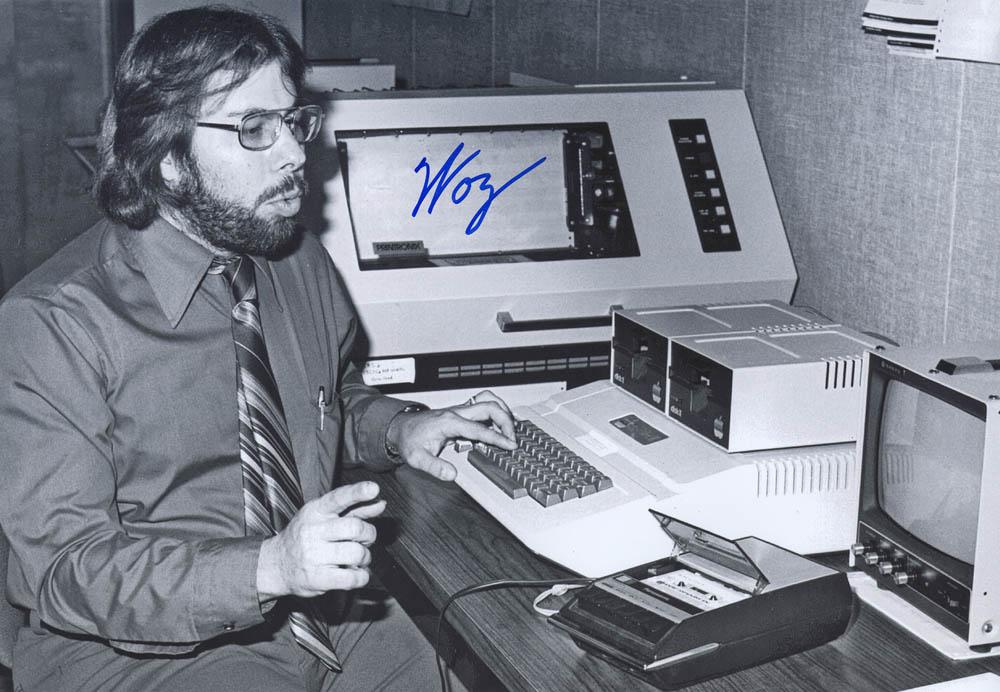 Steve Wozniak w/ Apple ][ Black & White