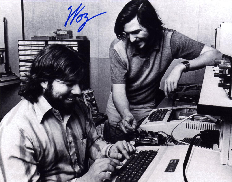 Steve Wozniak and Steve Jobs 14 x 11 Signed Photo