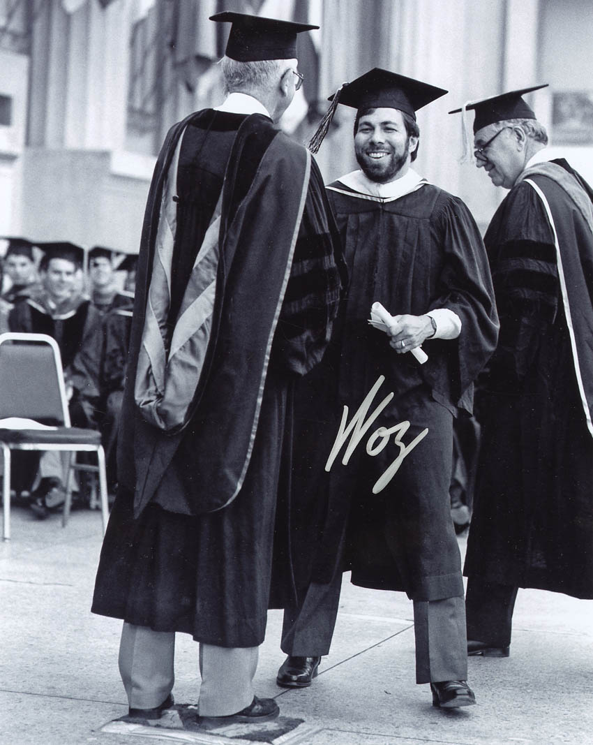 Steve Wozniak graduating from Cal Berkeley